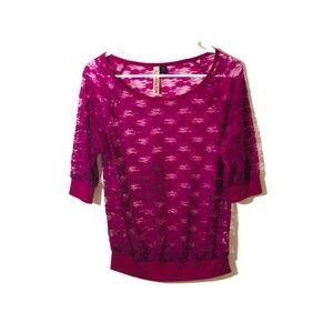 Eyeshadow Purple Lace Top